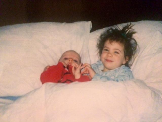 Harn and Joel bedtime cuddles