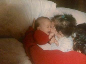 H,J & Mum bedtime cuddles