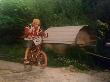 J BMX jumping